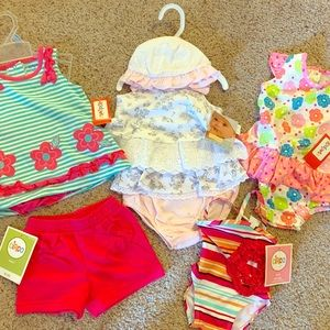 NWT 🍼💕 3-9M Bundle - Outfits, Swimsuit & Shorts